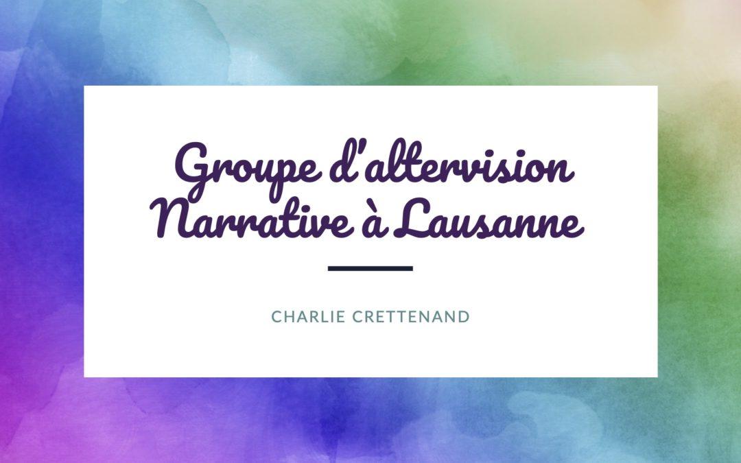 Groupe d'altervision narrative avec C. Crettenand