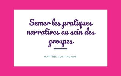 Semer les pratiques narratives au sein des groupes
